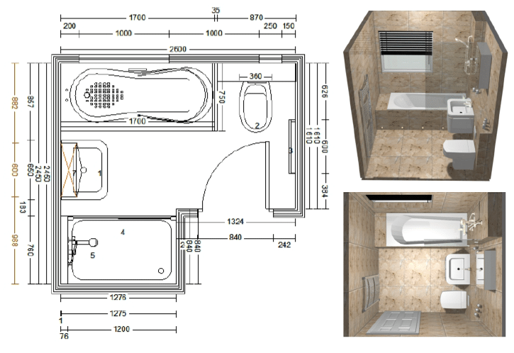 Bathroom cad design from alan heath sons in warwickshire for Bathroom designs top view