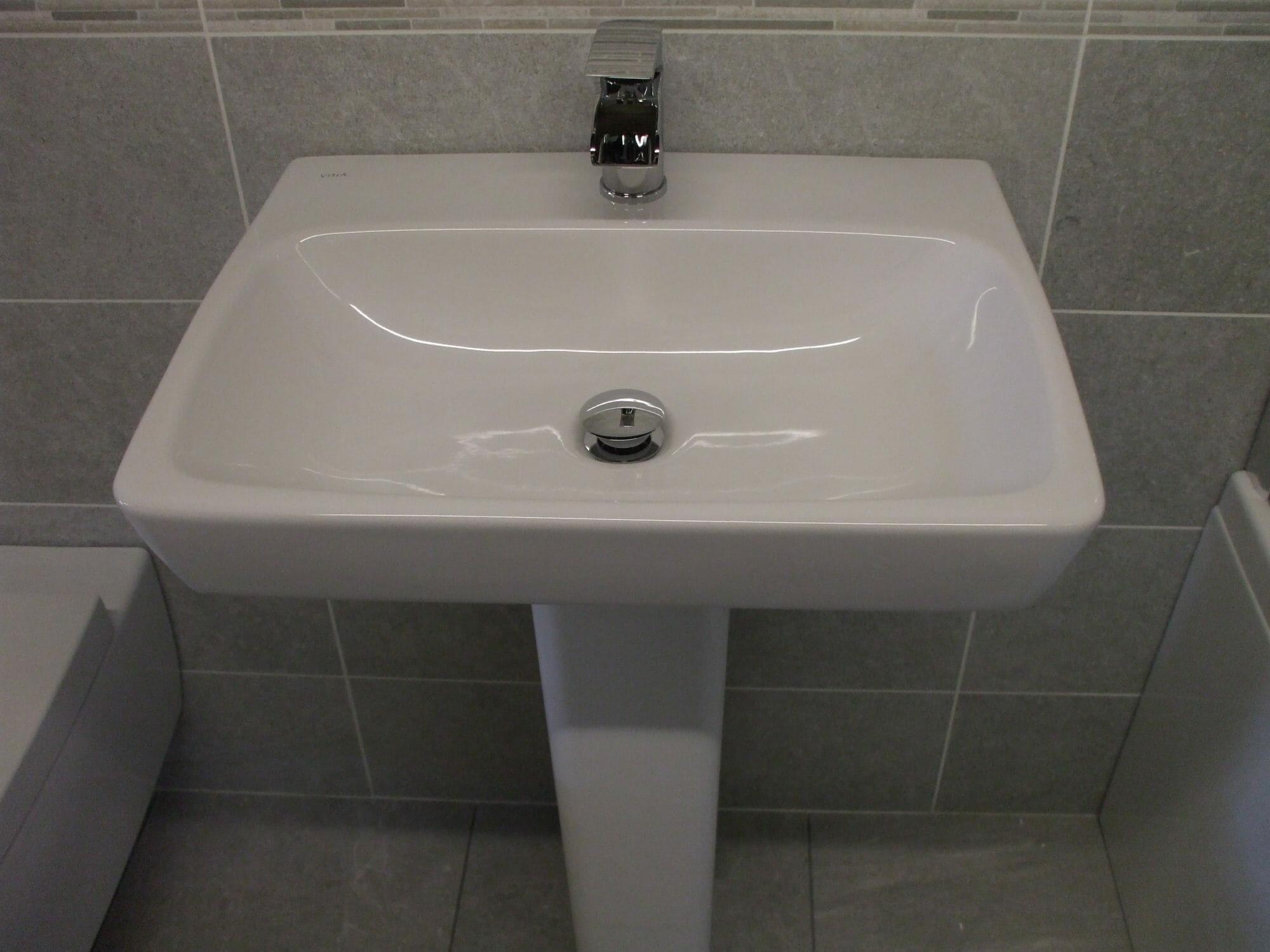 Vitra Sento 600mm Basin & Pedestal